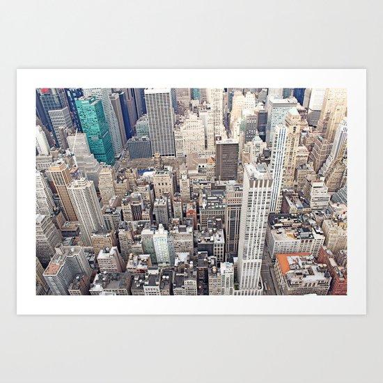 New York City color Art Print