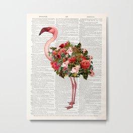 Flamingo Print Metal Print