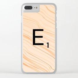 Scrabble E - Large Scrabble Tiles Clear iPhone Case