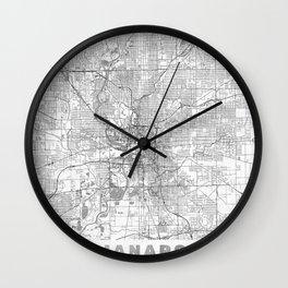 Indianapolis Map Line Wall Clock