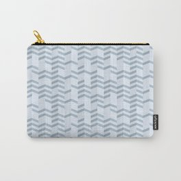 Blue Chevron Cuts Carry-All Pouch