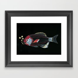 Happy New Fish  Framed Art Print