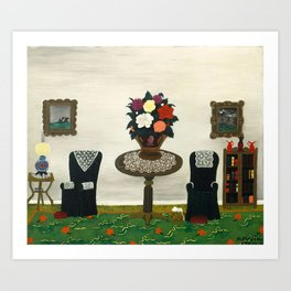Victorian Interior II by Horace Pippin, 1945 Art Print