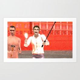 SquaReD: Opposition Art Print