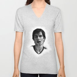 Damon Salvatore Drawing Unisex V-Neck