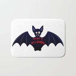 Creepy halloween bat Bath Mat