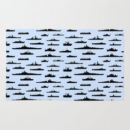 Battleship // Light Blue Rug