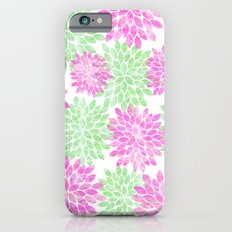 pink and green flowers iPhone 6s Slim Case