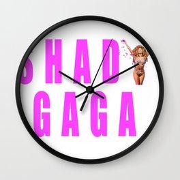 Sip champagne liked Shady Ga Ga Wall Clock