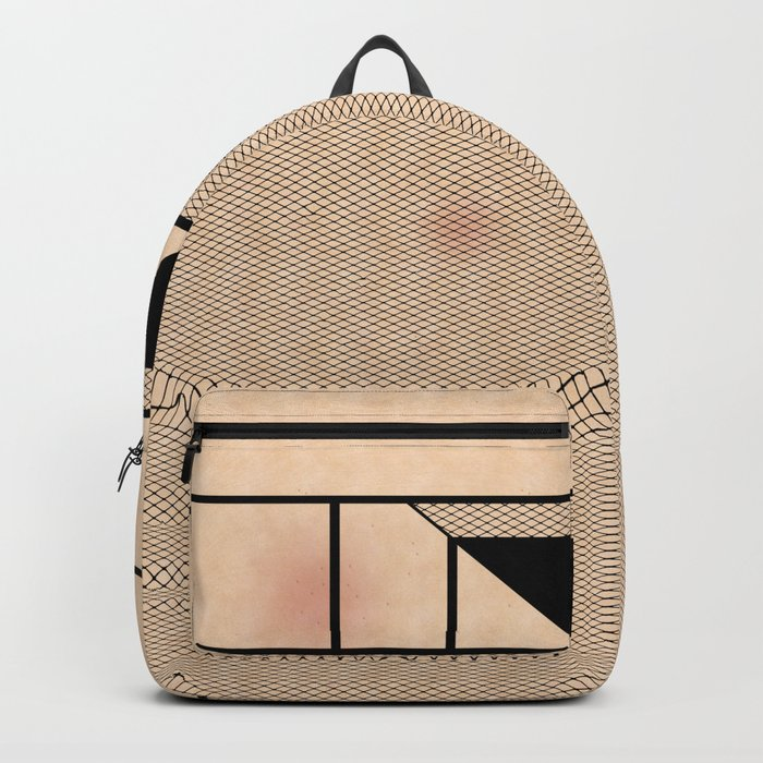 Fishnet Stockings and Black Knickers Backpack