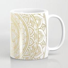 Hand Drawn Gold Bali Mandala Coffee Mug