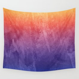 Tie Dye Pinks, Purples, Oranges, Red, And Yellow Prints Wall Tapestry