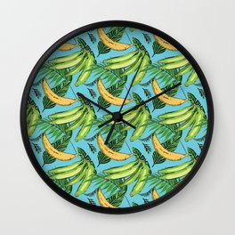 Plantain Paradise Pattern - For true plantain fans Wall Clock