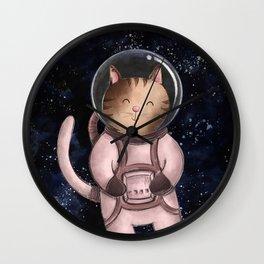 Astrocat Illustration Wall Clock