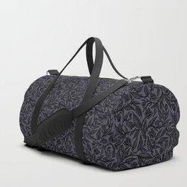 Flourish by Sean Martorana - Black on Purple Duffle Bag