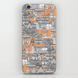 Paris toile cantaloupe iPhone Skin