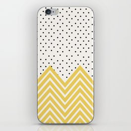 Chartreuse Chevron and dots  iPhone Skin