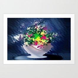 Ton und Blumen. Stilleben. Art Print