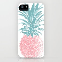 Simple Modern Boho Pineapple Drawing iPhone Case