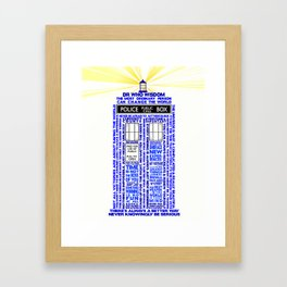 Doctor Who TARDIS Words of Wisdom Framed Art Print