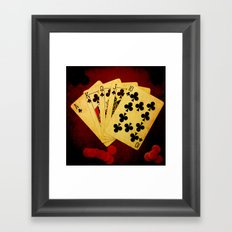 Escalera Real de Trebol (Dirty Poker) Framed Art Print