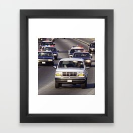 OJ Simpson Car Chase Framed Art Print