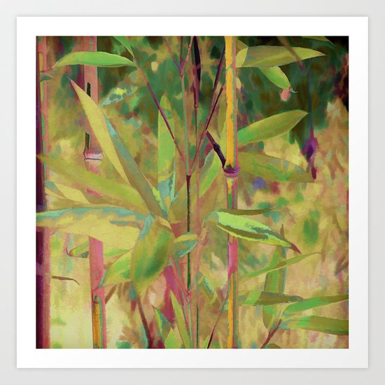 Painted Bamboo Art Print