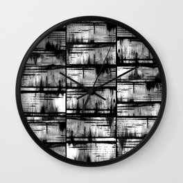 How Many Gray Lines (1) Wall Clock