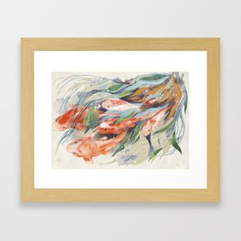 in the waterweeds Framed Art Print