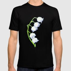 Lily of the Valley Black MEDIUM Mens Fitted Tee