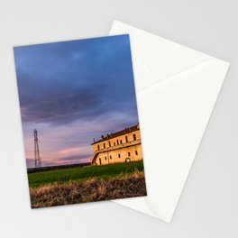 House at sunset Stationery Cards
