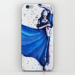 Blue Dancer iPhone Skin