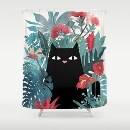 Popoki Shower Curtain