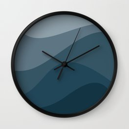 Abstract Color Waves - Blue Palette Wall Clock