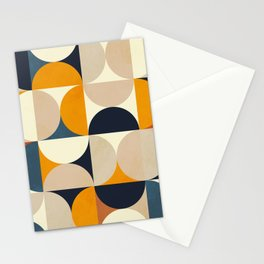 mid century abstract shapes fall winter 1 Stationery Cards