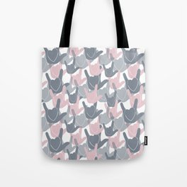ASL I LOVE YOU HEARTS PINK Tote Bag