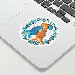 Dino Hugs Sticker