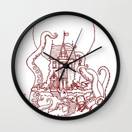 The Midnight Chateau Red Line Wall Clock