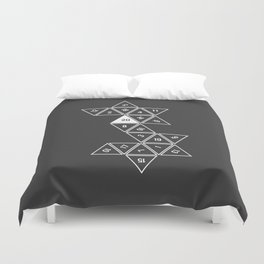 Unrolled D20 Duvet Cover