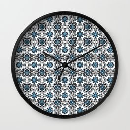 Floor Series: Peranakan Tiles 35 Wall Clock