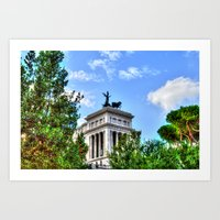 rome Art Prints featuring Rome. by haroulita