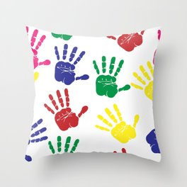 Hands impressions Throw Pillow