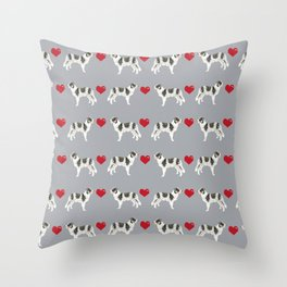 Border Collie love hearts dog breed gifts collies herding dogs pet friendly Throw Pillow