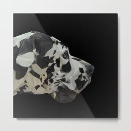 Great Dane Dogue low poly. Metal Print