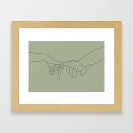Matcha Pinky Swear Framed Art Print
