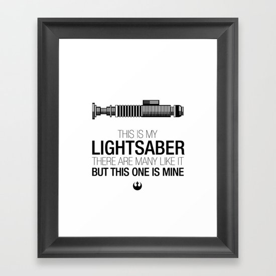 This is my Lightsaber (Luke Version) Framed Art Print