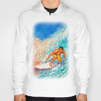 surfer Hoodies featuring Surfer by LiliyaChernaya