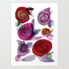 colors filled with roses Art Print