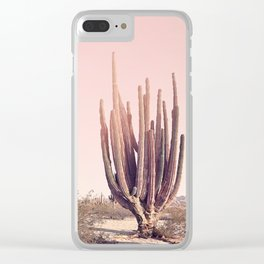 Blush Cactus Clear iPhone Case