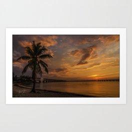 Bahia Honda Sunset Art Print